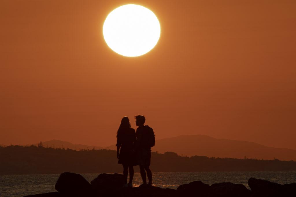 Лучший закат солнца на Крите