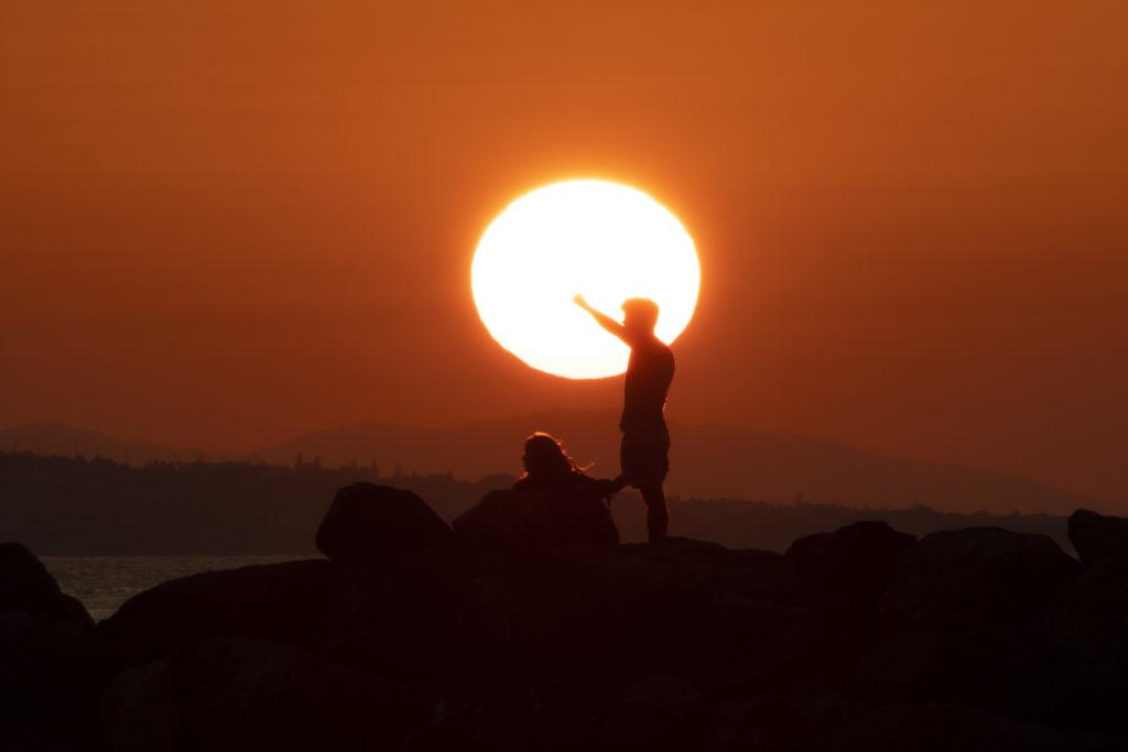 Best sunset view over Crete island