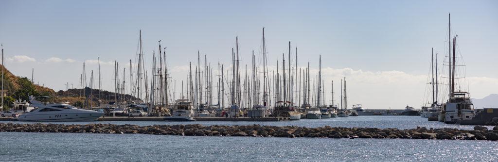 Marina of Agios Nikolaos city, Crete island